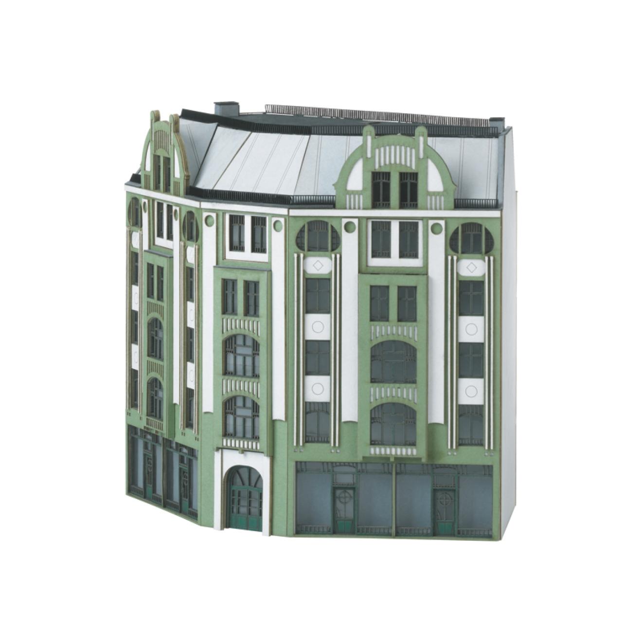 Bausatz winkel stadthaus jugendstil modellbau fischer for Fachwerk winkel
